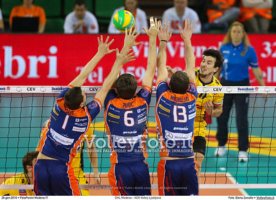 DHL Modena - ACH Volley Ljubljana 6th Leg - Pool F - 2016 CEV DenizBank Volleyball Champions League - Men,  PalaPanini Modena IT, 26.01.2016 FOTO: Elena Zanutto © 2016 Volleyfoto.it, all rights reserved [id:20160126.4B2A0029]
