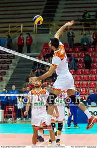 Calzedonia VERONA - Galatasaray HDI ISTANBUL 8th Final - Home match, 2016 CEV Volleyball Challenge Cup - Men.  PalaOlimpia Verona IT, 20.01.2016 FOTO: Daniele Celesti © 2016 Volleyfoto.it, all rights reserved [id:20160120.Calzedonia Verona - Galatasaray-43]