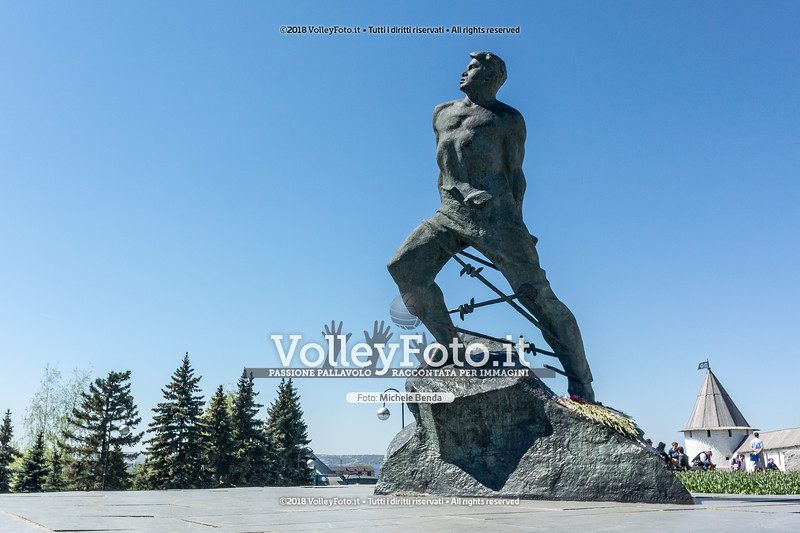 Statua raffigurante il poeta Musa jalil
