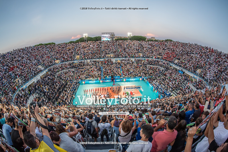 FIVB Volleyball Men's World Championship Italy-Bulgaria 2018. presso Foro Italico Rome IT, 9 settembre 2018 - Foto di Michele Benda per VolleyFoto [Riferimento file: 2018-09-09/_7507952]