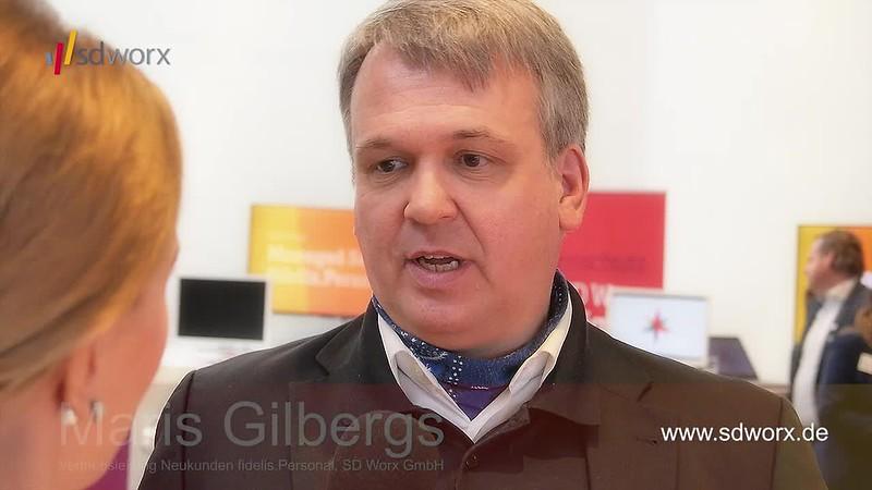 Videointerview mit Maris Gilbergs (Vertriebsleitung Neukunden fidelis.Personal, SD Worx GmbH) zur SD Worx Personaltagung - Karrideo Imagefilm ©®™