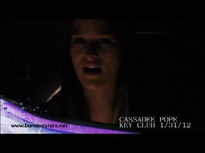 Cassadee Pope 01/31/12