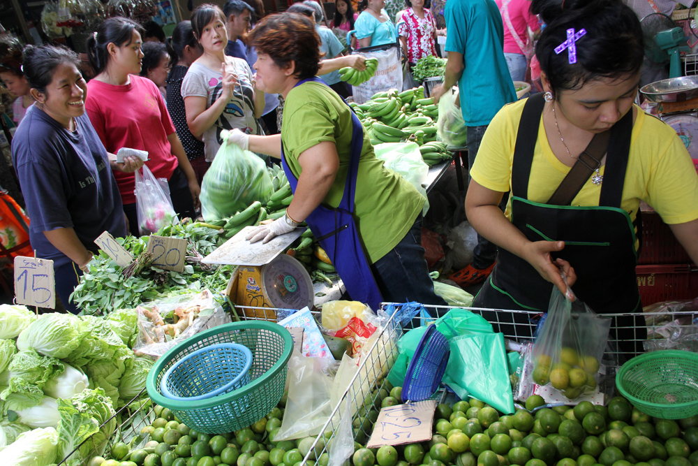 A local Thai market