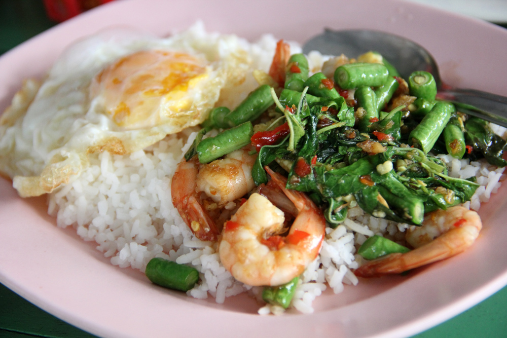 A photo of some normal Thai food