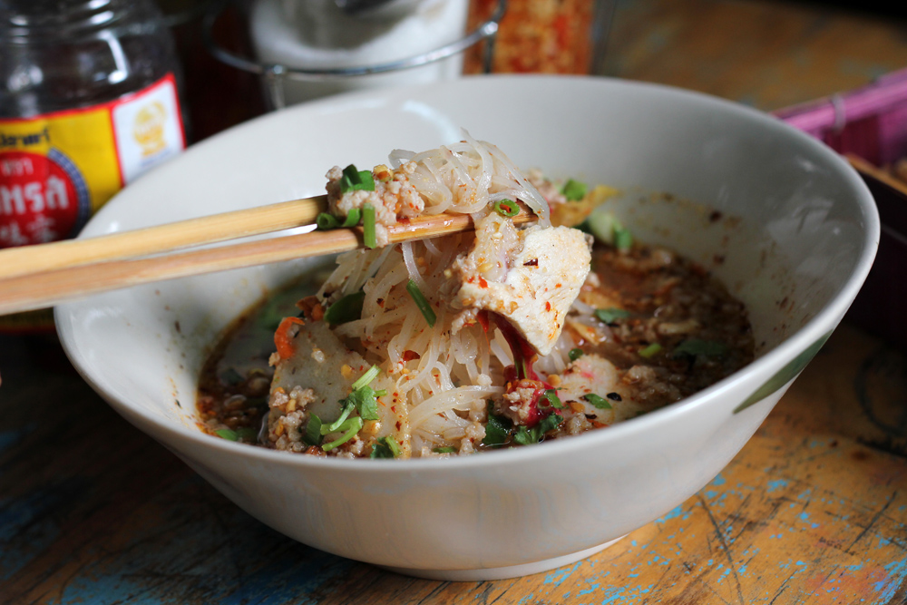 Thai soup with noodles - Thai cuisine
