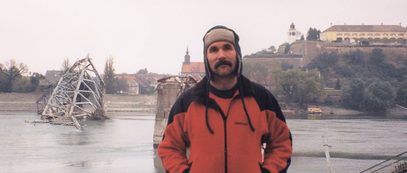 Bob Ostertag And NATO-Bombed Bridge (Novi Sad, Serbia)