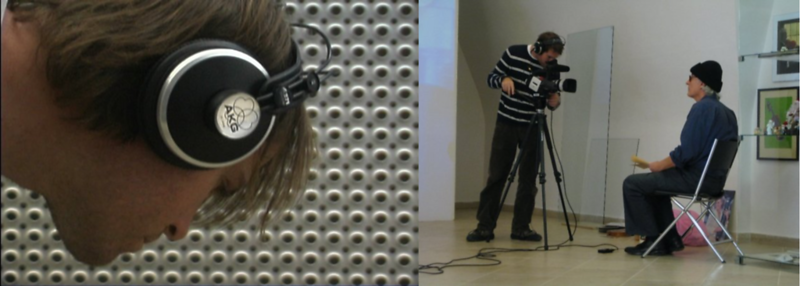 Steve Elkins and Jon Rose During Production In Australia (Left) and Brno, Czechia (Right)