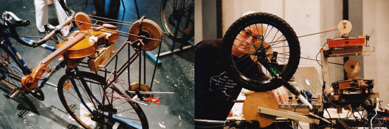Jon Rose's Viola-Cyle And Other Bicycle Powered Instruments (Sydney, Australia)