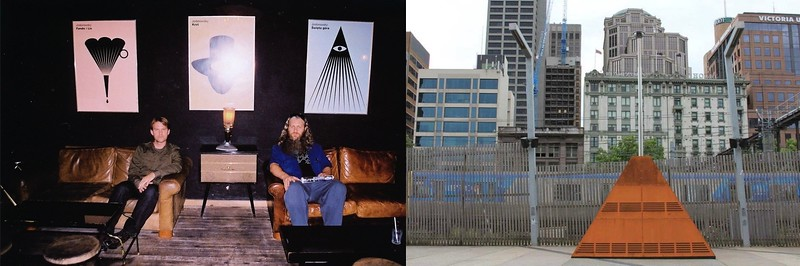 Steve Elkins & Robin Fox In Mexico City (Left) And Robin's Street Theramin In Melbourne (Right)