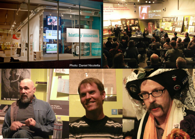 Bob Ostertag, Steve Elkins And Sister Maejoy B. Withu At The San Francisco GLBT History Museum (September 29, 2011)