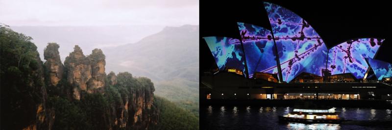 Blue Mountains and Sydney Opera House Illuminated By Brian Eno (Australia)
