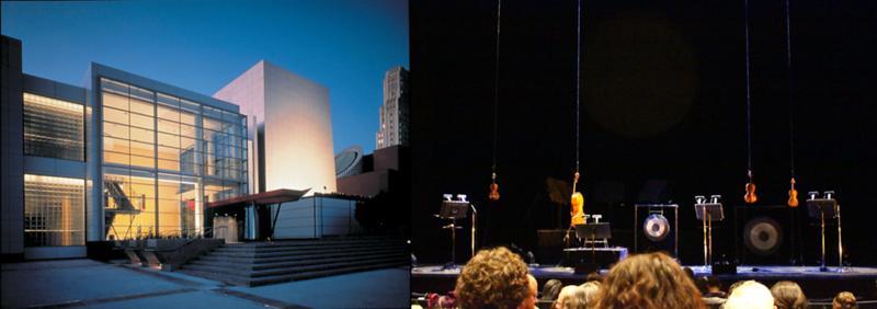 "Kronos Quartet's Hanging Setup For ""Black Angels"" At The Yerba Buena Center For The Arts (San Francisco, October 2010)"