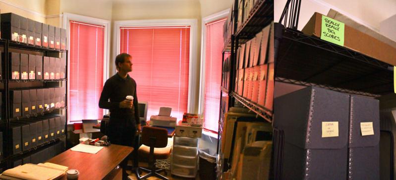 Steve Elkins In Kronos Quartet's Music Library (San Francisco)