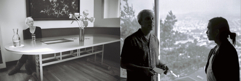 Joan Jeanrenaud And Hank Dutt Of Kronos Quartet During Production At Their Homes (San Francisco)