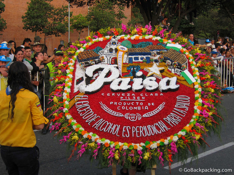 The annual flower parade - Medellin, Colombia.