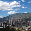 Scenic views from downtown Medellin, Colombia.