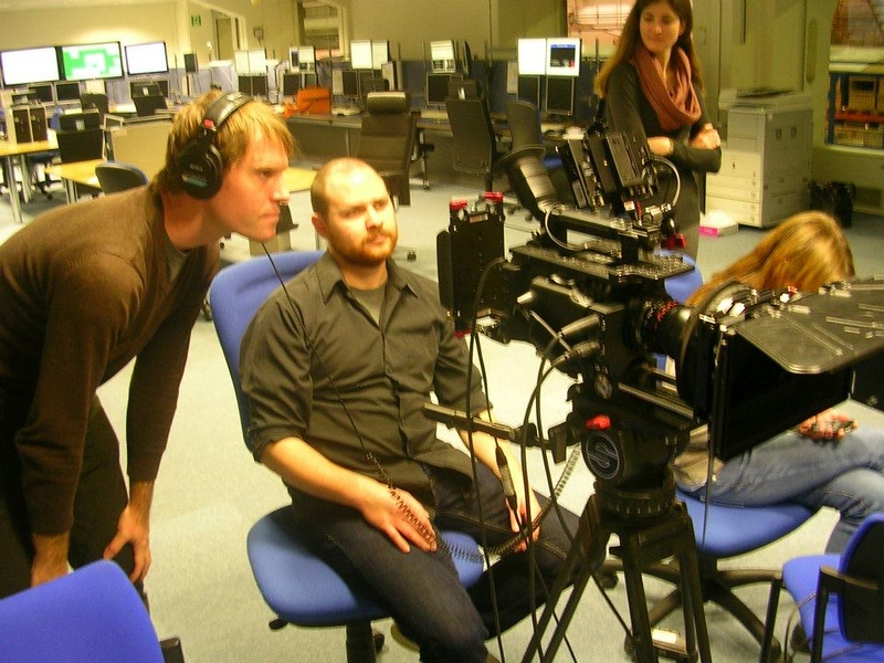 Steve Elkins And David Marks During Production