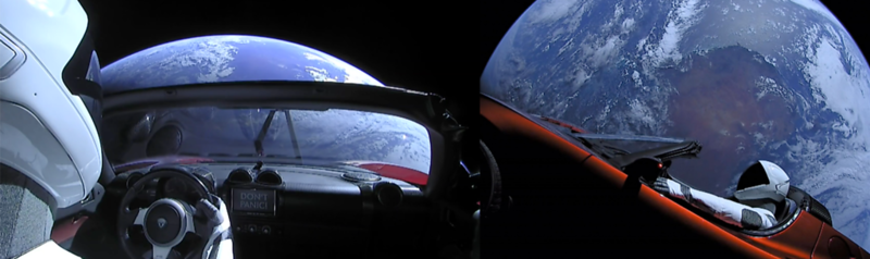 The First Arch Library:  Elon Musk's Cherry Red Tesla Now Orbiting The Sun For Approximately 30 Million Years