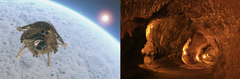 The Lunar Library En Route To The Moon And The First Lava Library Buried In The Lava Tubes Of Hawaii's Mauna Loa Volcano