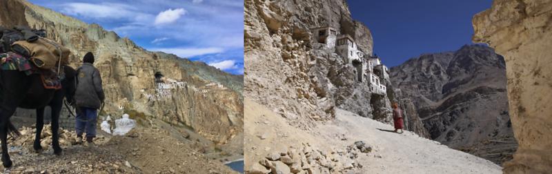 Arriving At A Remote Monastery In Zanskar, India