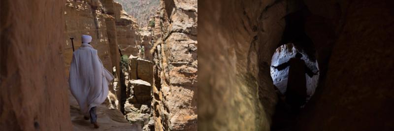 Monks In Remote Cave Monasteries (Ethiopia)