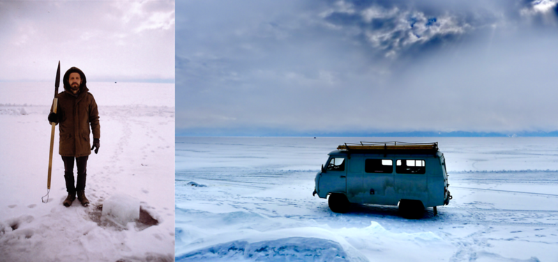 Filming On The Frozen Surface Of Lake Baikal, Siberia
