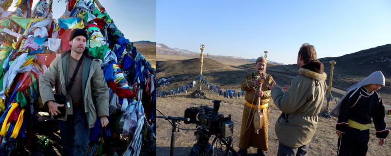Steve Elkins During Production With Throat Singers In Tuva