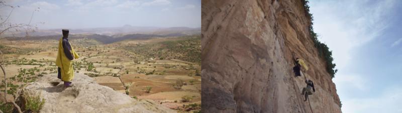 Ethiopian Monks Climbing To Remote Rock-Hewn Monasteries