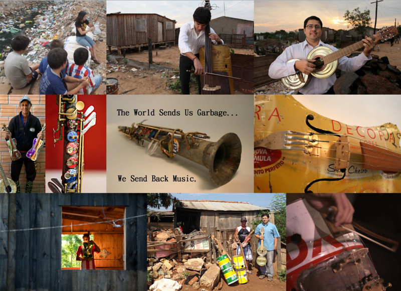 Musical Instruments Made By Children Out Of Recycled Trash From The Landfill Their Slum Is Built On (Paraguay)