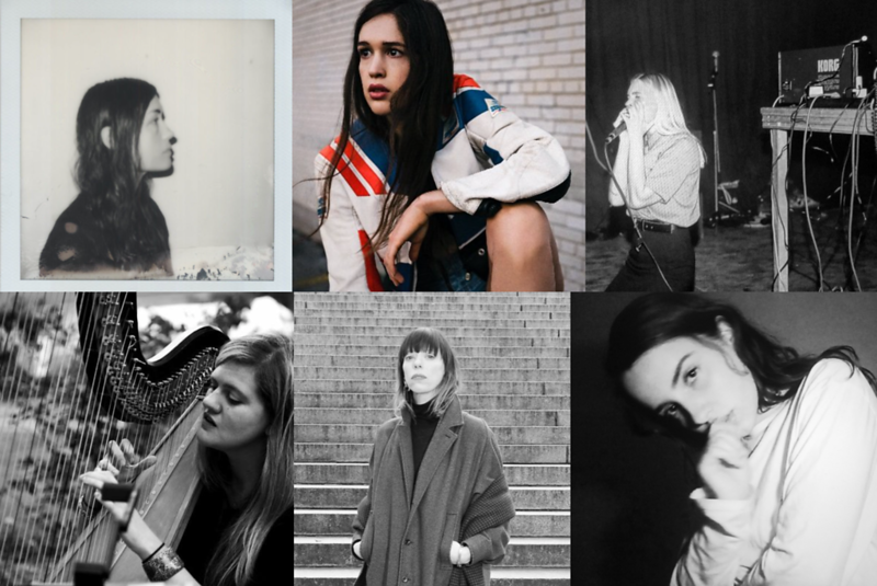 Top Left To Bottom Right:  Grouper, Marie Davidson, Puce Mary, Mary Lattimore, Vorhees, Malibu