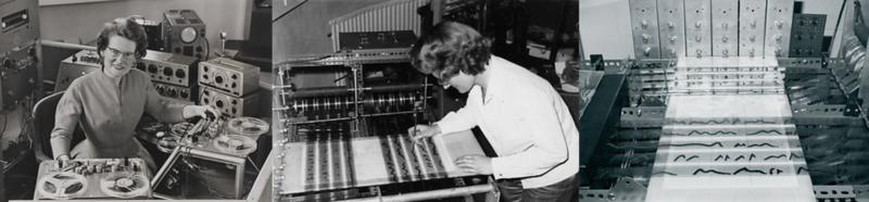 Daphe Oram and her Oramics Machine
