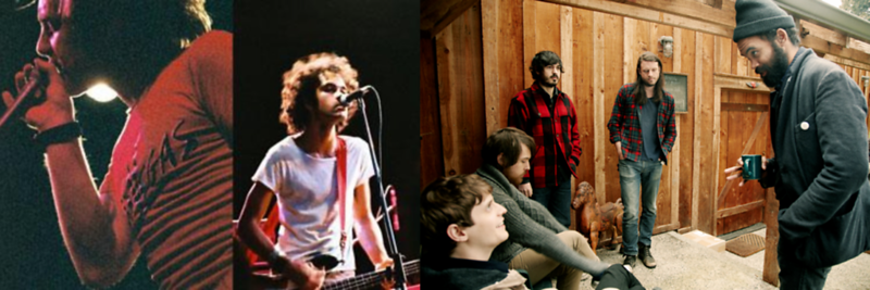Blood Brothers (left), Fleet Foxes (right)