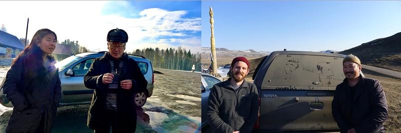 Film Crew (Melissa + Ted), Our Driver Yuriy and Aldar Tamdyn
