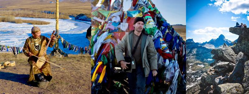 Musicians and Steve Elkins In Tuva