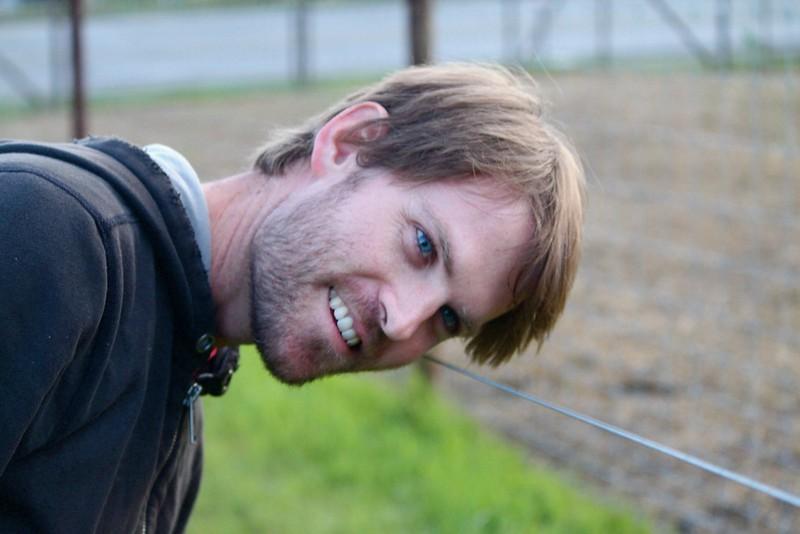 Steve Elkins Listening To Fence Music In Alaska