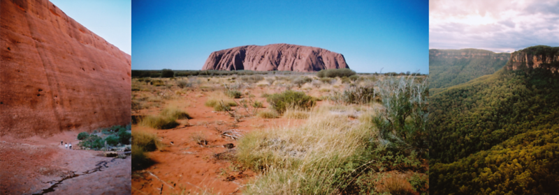 Production Photos (Central Australia and Blue Mountains)