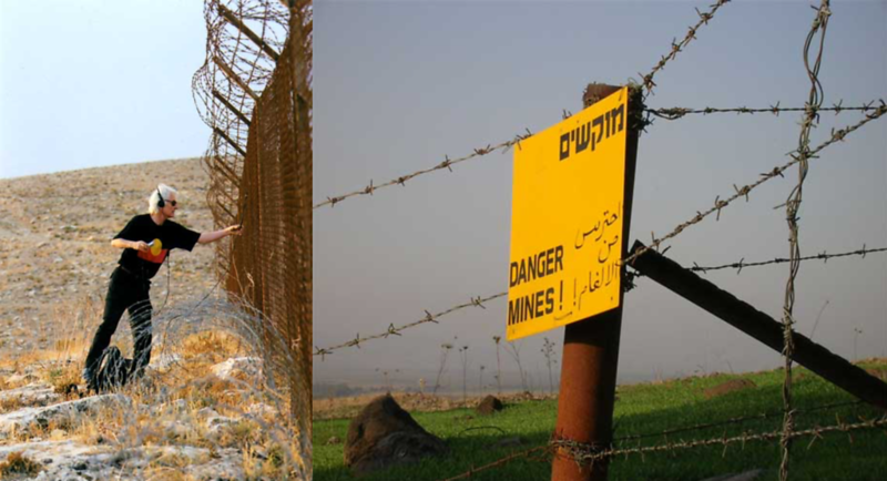 Jon Rose Evoking Music From An Army Camp Fence In Judea And The Old 1967 Border Between Syria And Israel (Golan Heights)