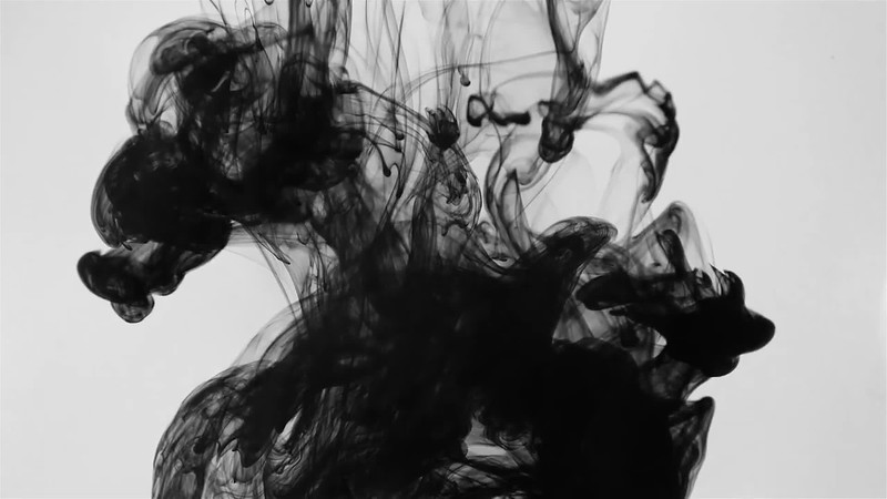 (WATCH):  Ink Drop In Water With A Sample Of Ben Eshbach's Score