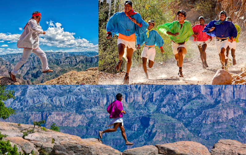 Tarahumara Running In Copper Canyon (Chihuahua, Mexico)