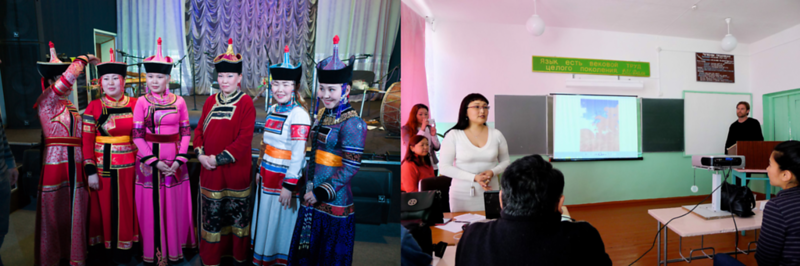 Musicians In Kyzyl and Steve Elkins Being Introduced Before Speaking In Arzhaan