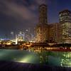 Singapore down-town night scene.