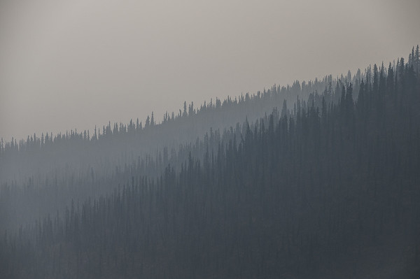 Smokey conditions in The Yukon