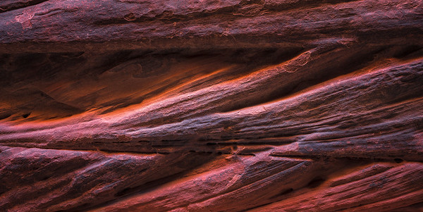 Unique formations on a slot canyon wall