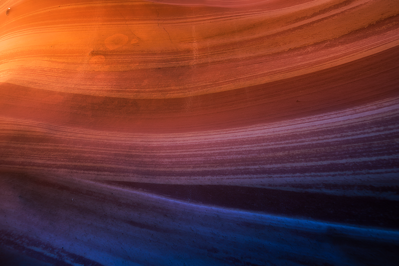 Light and shadow painting the walls of Zebra Canyon in Escalante Utah.