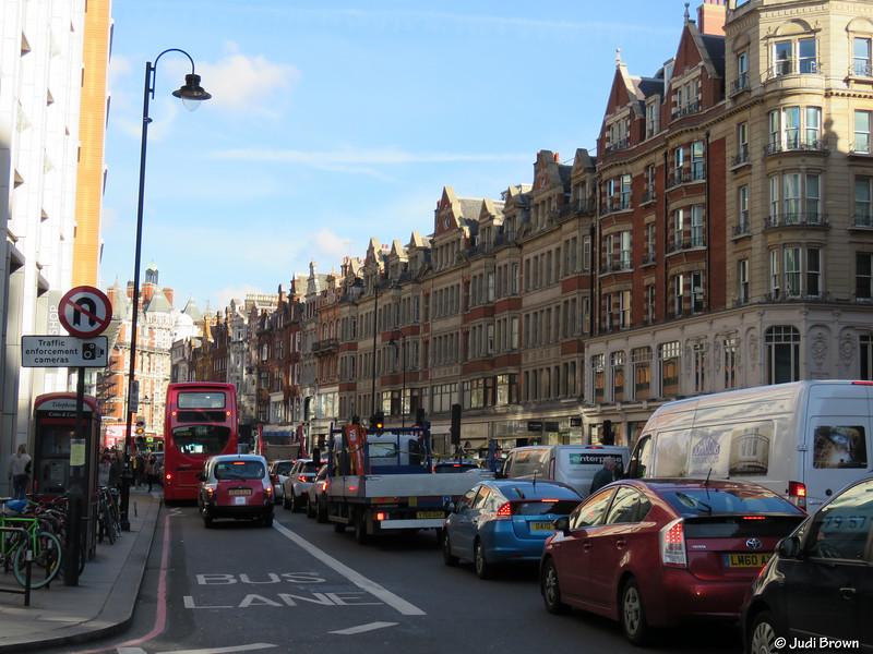 Plenty of traffic in London