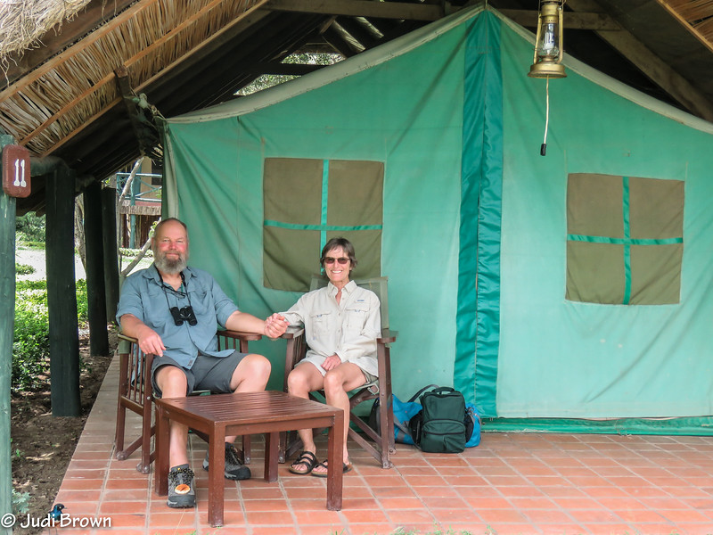 Tent camping on the equator doesn't look like much from the outside.