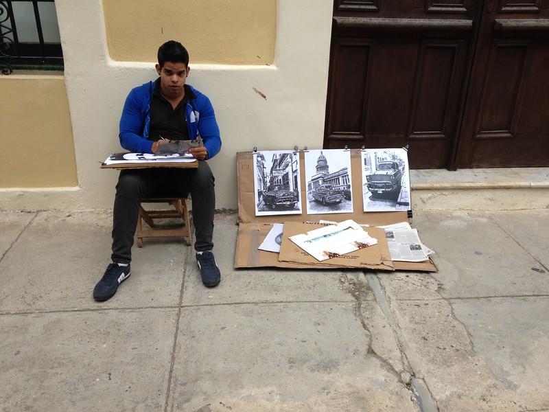 Old Havana art student