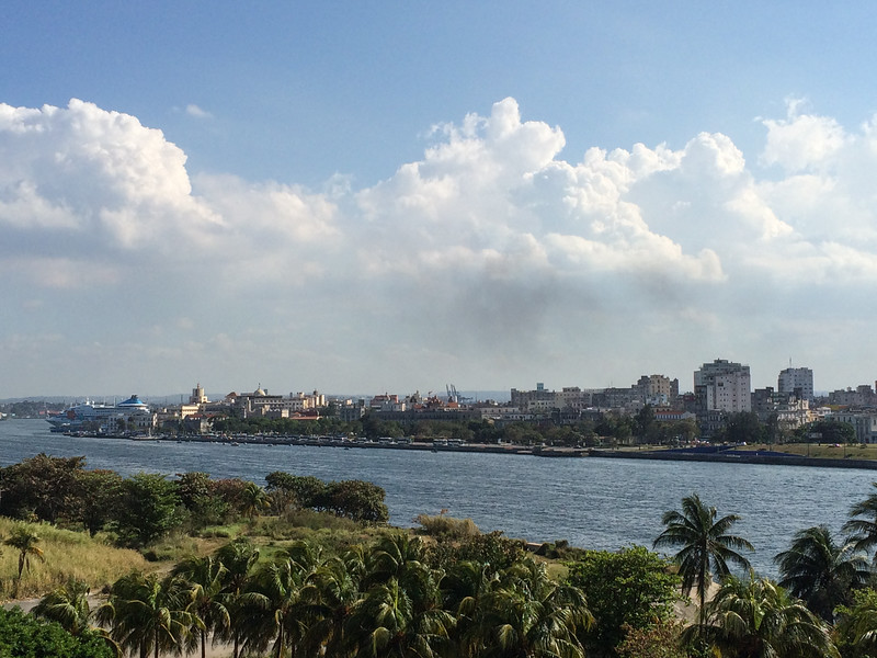 Havana as seen from old fort and wall that surrounded city.
