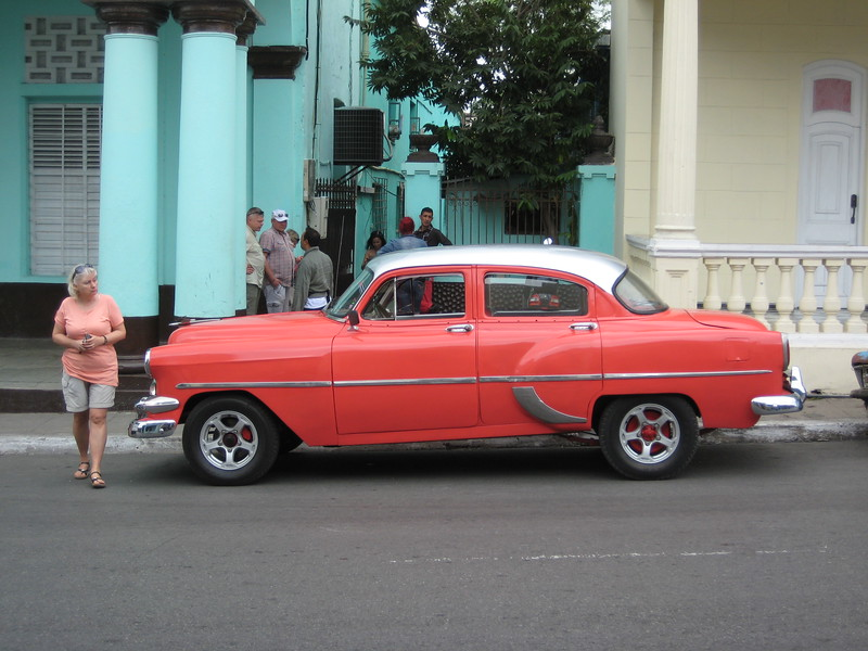 This auto was sitting outside the government-own tobacco factory.