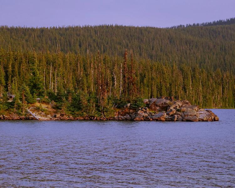 A point at Waldo Lake